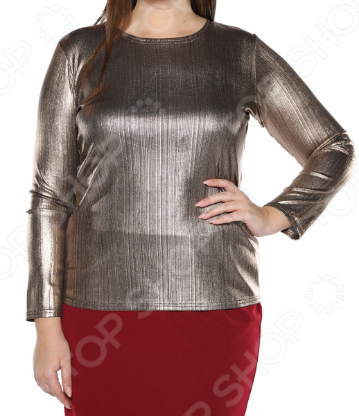 Блуза Blagof «Изасканный блеск». Цвет: золотистый