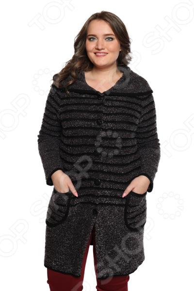 Жакет Milana Style «Горизонты». Цвет: фиолетовый жакет milana style цвет молочный