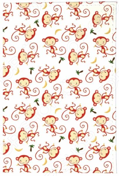Обложка для паспорта кожаная Mitya Veselkov «Красные обезьянки» красные лямки для лифчика