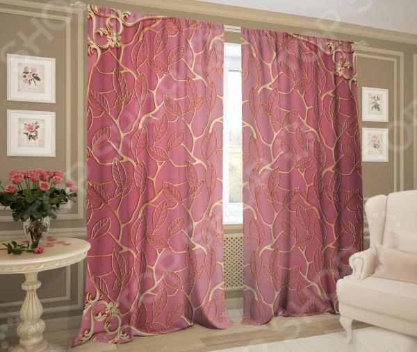 Фотошторы ТамиТекс «Изгиб». Цвет: розовый