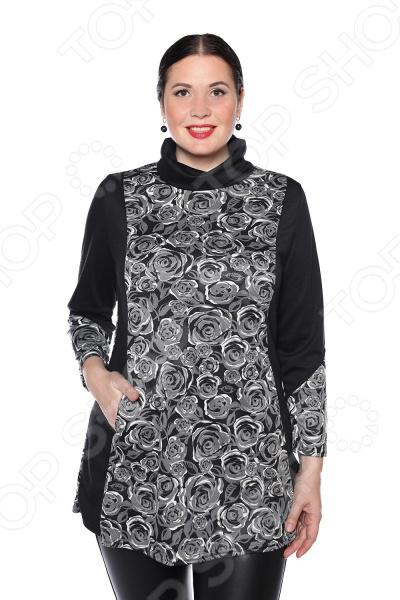 цена Блуза Pretty Woman «Бьянка». Цвет: черный онлайн в 2017 году