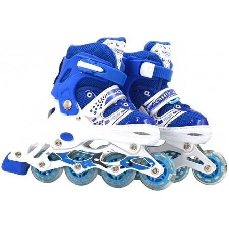 Купить Роликовые коньки детские раздвижные Navigator Power со светящимися колесами ПВХ. Цвет: синий