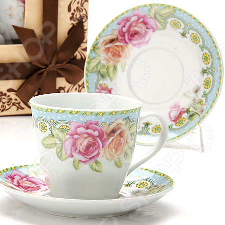Чайный набор Loraine «Розы» LR-25795 масленка loraine lr 22444 розы в ассортименте
