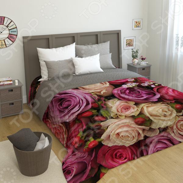 цена на Фотопокрывало стеганное Сирень «Восхитительный букет роз»
