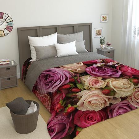 Купить Фотопокрывало стеганое Сирень «Восхитительный букет роз»