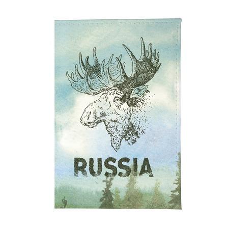 Купить Обложка для паспорта Mitya Veselkov «Лось»