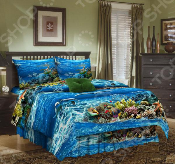 Комплект постельного белья Эго «Море». 1,5-спальный