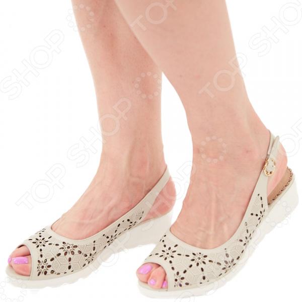 Туфли EGO «Комфорт». Цвет: бежевый