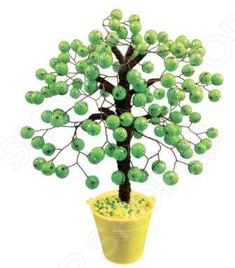 Набор для детского творчества Азбука тойс «Дерево из бусин: Салатовое» набор для плетения lori брелоки совушка из бусин от 7 лет бус 034