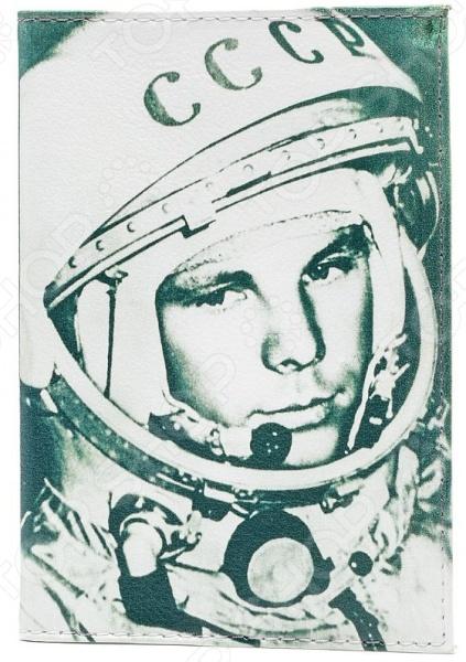 Обложка для автодокументов кожаная Mitya Veselkov «Гагарин» цена