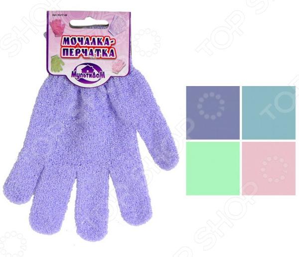 Мочалка-перчатка Мультидом MJ17-36. В ассортименте бинки мочалка на руку д детей перчатка 25х21см