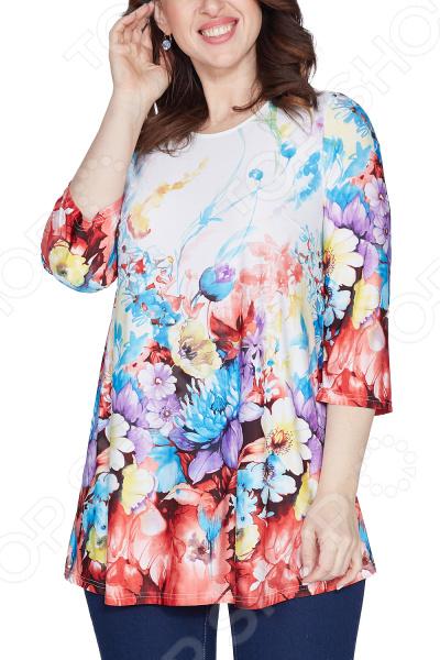 Блуза Лауме-Лайн «Яркое воспоминание». Цвет: белый туника лауме лайн эстетика цвет васильковый