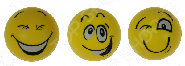 Набор антистрессовых мячиков «Смайлики»