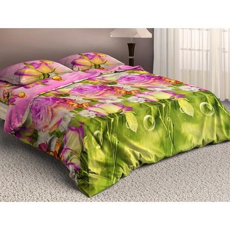 Купить Комплект постельного белья «Цветочная фантазия». 2-спальный. Рисунок: розовые розы