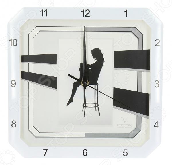 Часы настенные Вега П 4-7610/7-37 «Девушка на стуле» гришина наталья игоревна радужки® плетение на рогатке браслеты и аксессуары