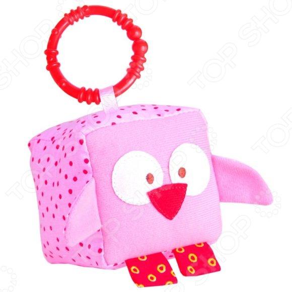 Кубик мягкий с прорезывателем Мякиши «Зоо. Совенок» Кубик мягкий с прорезывателем Мякиши «Зоо. Совенок» /