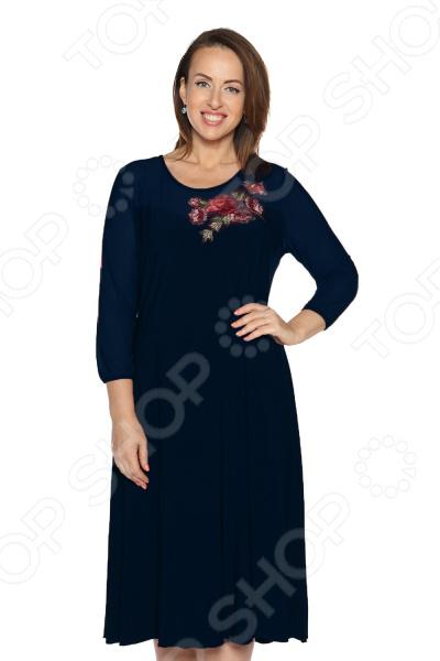 Платье Лауме-Лайн «Королевксий образ». Цвет: темно-синий