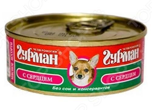 Корм консервированный для собак Четвероногий Гурман «Мясное ассорти с печенью»