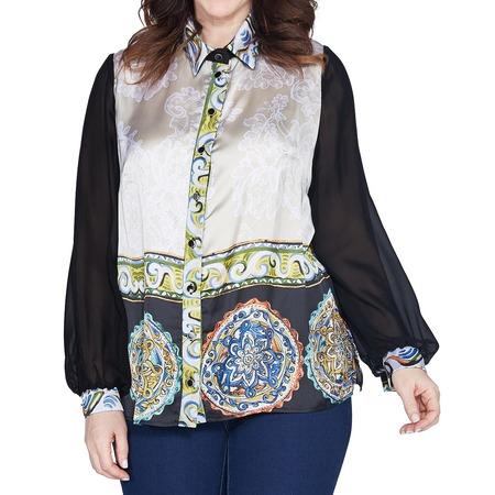 Купить Блуза Wisell «Жасмин». Цвет: бежевый, черный