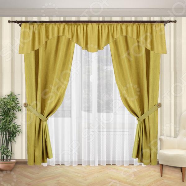 Комплект штор и тюль Синель «Нежность» 1427 комплект легких штор правосторонний синель карамель 148
