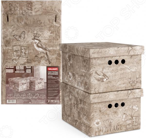 Набор коробок для хранения Valiant Vintage. В ассортименте