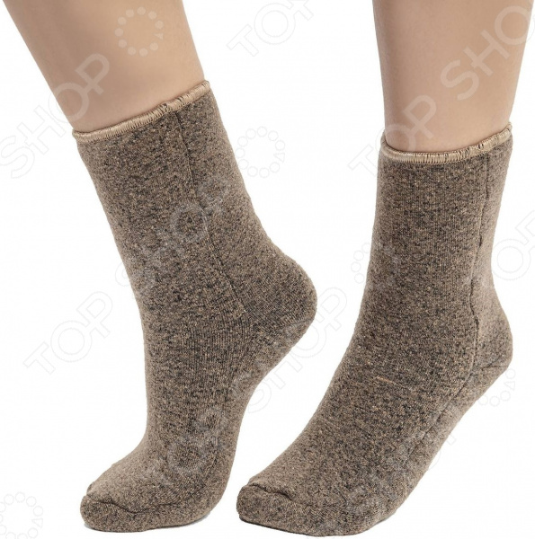 Носочки меховые WoolHouse «Стрейч. Верблюд»