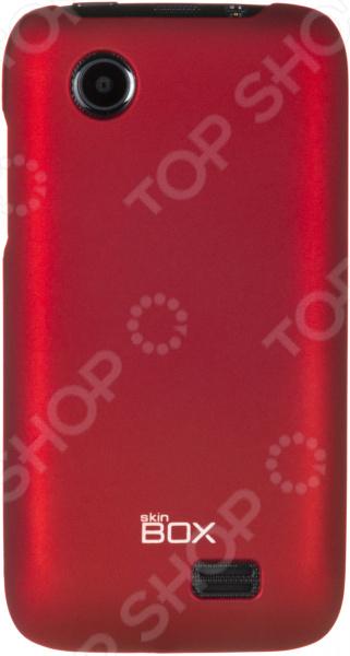 Чехол защитный skinBOX Lenovo A369 чехлы для телефонов skinbox накладка для lenovo vibe c skinbox серия 4people защитная пленка в комплекте