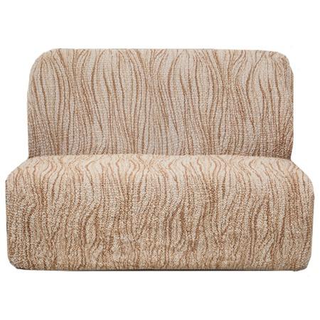 Купить Натяжной чехол на двухместный диван без подлокотников Еврочехол «Виста. Элегант Крем»