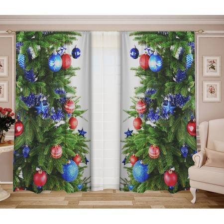 Купить Комплект штор с тюлем «Новый Год»