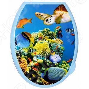Сиденье-крышка для унитаза Violet «Кораллы»