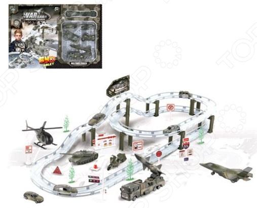 Трек гоночный Наша Игрушка «Военная база»