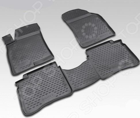 Комплект ковриков в салон автомобиля Novline-Autofamily Hyundai Sonata YF 2010. Цвет: бежевый - фото 3