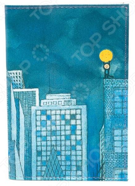 Обложка для автодокументов кожаная Mitya Veselkov «Мальчик и Луна» обложка для автодокументов кожаная mitya veselkov гагарин