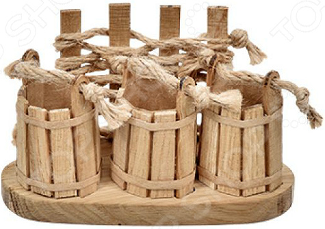 Полочка для бани Банные штучки на 3 флакона масла «Ведерки» большие банные полотенца киев