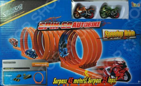 Набор игровой для гонок Idoon «Крутой байк. Полигон»