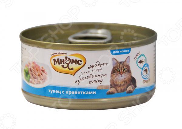 Корм консервированный для кошек Мнямс «Тунец с креветками в нежном желе»