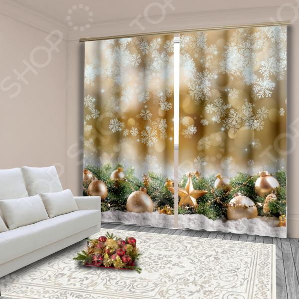 фото Комплект фотоштор «Долгожданный снег», Фотошторы с цветами/пейзажами