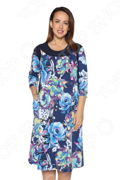 Платье Лауме-Лайн «Волшебный трепет». Цвет:: темно-синий