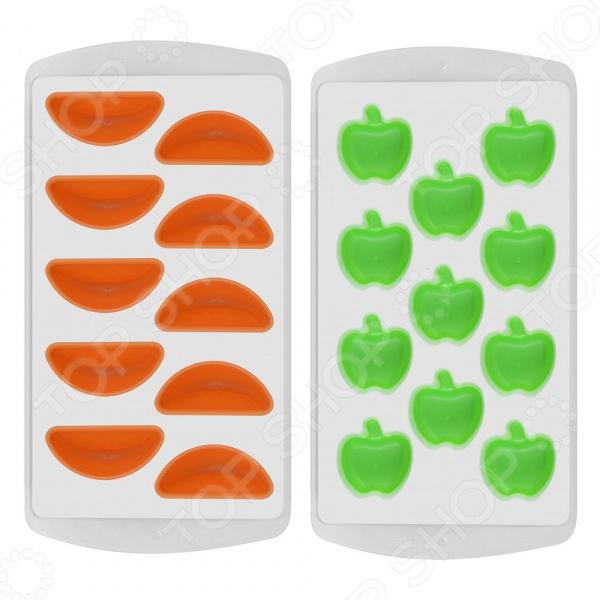 Форма для льда Мультидом «Яблоко. Апельсин» VL80-155. В ассортименте
