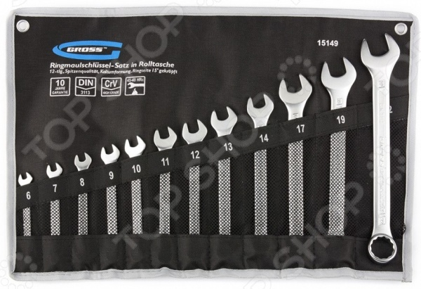 Набор ключей комбинированных GROSS 15149 цена