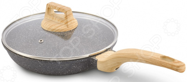 Сковорода с крышкой LARA Granit Rome сковорода блинная lara granit palermo