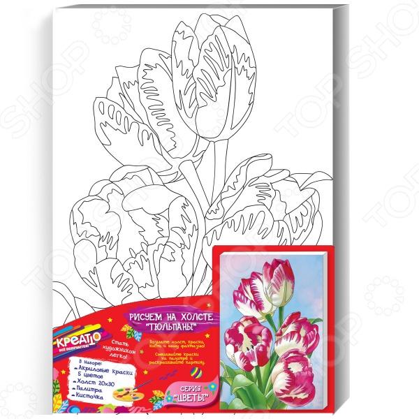 Набор для росписи по холсту Креатто «Тюльпаны»