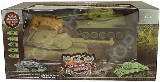 Танк на радиоуправлении Пламенный Мотор Т34 - Abrams M1A2 цена