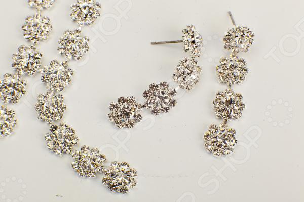 Комплект: ожерелье и серьги Bradex «Цветочный Ансамбль»