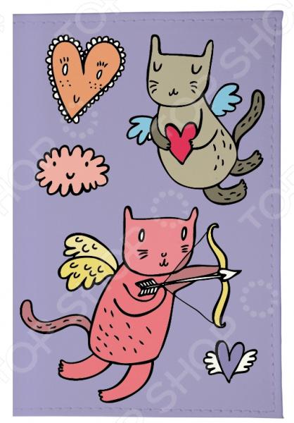 Обложка для автодокументов Mitya Veselkov «Коты-амуры» чехол для iphone 6 mitya veselkov коты амуры ip6 201