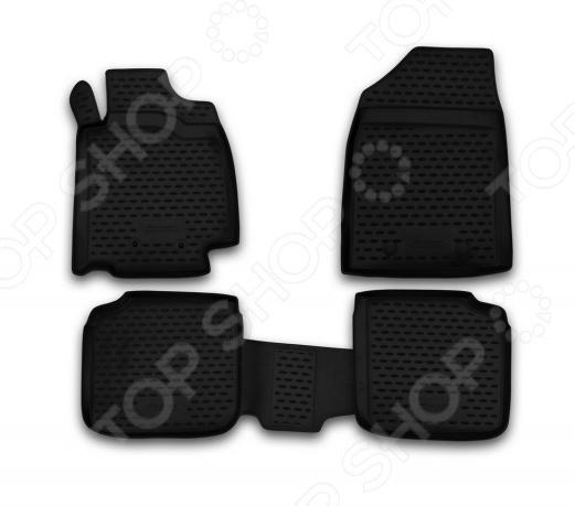 Комплект ковриков в салон автомобиля Novline-Autofamily Volkswagen Passat CC 2009 купе. Цвет: черный - фото 8