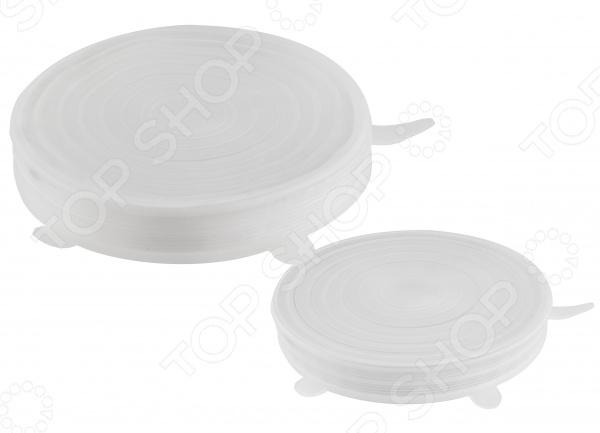 фото Набор силиконовых крышек «Непроливайка», Крышки для посуды
