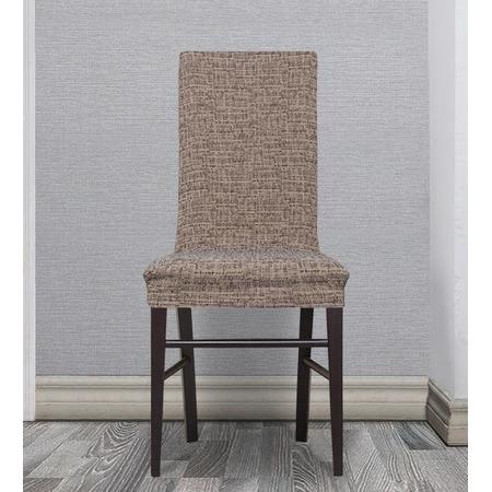 Комплект натяжных чехлов на стул Еврочехол «Андреа». Цвет: мокко
