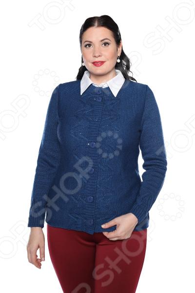 Жакет Milana Style «Любимая история». Цвет: джинсовый жакет milana style хрустальная роса цвет джинсовый