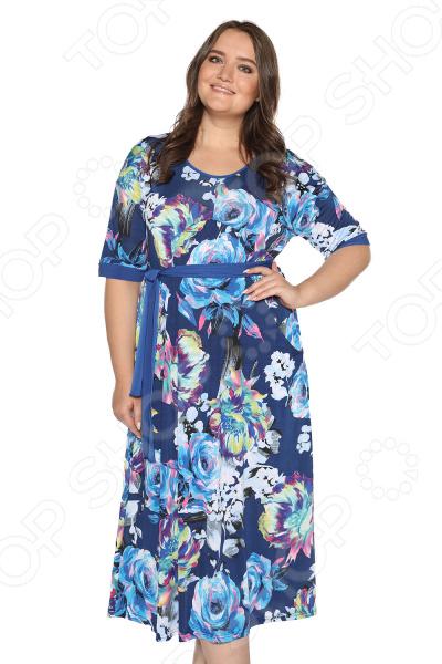Платье Лауме-стиль «Секреты счастья». Цвет: васильковый